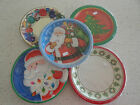 Christmas Paper dinner plates 1 pack of 8 - 9 inch round
