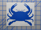 Crab Sticker Decal 4* 5.5* 7.5* Blue Dungeness Snow Claw Trap Ring Decor Pot