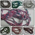 100 x Half-Plated Crackle Glass Beads - Round - 4mm [Various Colours Available]