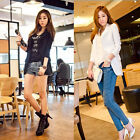 Fashion Women Long Sleeve Body Fit Chiffon Suit Button Jacket Blazer Coat Top