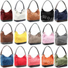 Ladies Real Italian Suede Leather Womens Handbags Shoulder Handbag Tote Bag