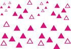 84 x TRIANGLE Pack Stickers - car bike wall art windows vehicles - graphic/decal