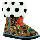 IRON FIST LADIES LOUNGE LEOPARD PRINTED MULTI FUGLY BOOTS (R29C)