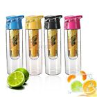 800ML Fruit Juice Infusing Infuser Water Bottle Sport Health Flip Lid BPA Free