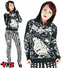Too Fast Full Zip Hoodie Nautical Tattoo Sailors Grave Jacket Punk Rockabilly