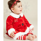 Baby Newborn Girl's Mrs Santa Dress Up Outfit