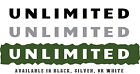 """Jeep Wrangler Side Hood Decal Pair Text Reads """"Unlimited"""" 3 Color Choices"""
