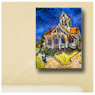 LARGE Photo Paper Sticker Van Gogh Church at Auvers print Decal repro fine art