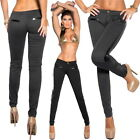 Women's Sexy Jegging Pant with Faux  Leather Sides - S / M / L / XL