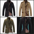 New Winter Mens Blazer Business Suits Slim Thicken Casual Trench Coat Overcoats