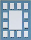 Внешний вид - 11x14 Baby Month First Year Photo Collage Mat Acid Free New Blue Pink White