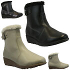LADIES WARM WINTER SNOW BOOTS SKI THERMAL FUR WELLINGTON WOMENS SHOES SIZES NEW