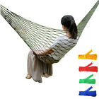 Outdoor Travel Camp Rope Hammock Garden Portable Nylon Hang Mesh Sleeping Bed