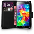 Premium Leather Wallet Case Cover For Samsung Galaxy S5 Mini + Free Screen Guard