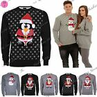 Mens Muffler Santa Penguin Christmas Xmas Knitted Sweater Jumper Sweatshirt Top