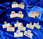 12 x Handmade  Personalised or Plain Christmas Place cards