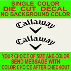2x Callaway Golf club vinyl decal, car, truck, window, mirror, laptop sticker