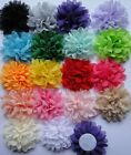20pcs Baby DIY Chiffon sewing corsage Hair Flowers Appliques Bow 18color pick