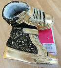 Juicy Couture baby girl shoes booties BNIB 19,  3.5 UK  9-12 m designer gold
