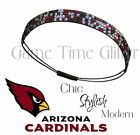 Arizona Cardinals Team Color Womens Rhinestone Bling Headbands Wear w/ Jersey
