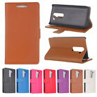 Deluxe  durable Wallet Litchi Leather Flip Folio Case Cover For LG G2 Mini