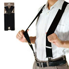 25/35/40/50mm Mens Women Wide Adjustable Braces man Suspenders Elastic in Plain
