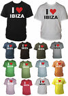 I Heart / Love Ibiza Mens Tshirt Adult Unisex Raving Sizes Small - XXL