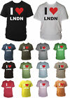 I Heart / Love LNDN / London Mens Unisex Tshirt Souvinir Gift Sizes Small - XXL