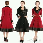 GOTHIC Victorian Vintage Gypsy Retro Jacket / Coat RED / Black 1012/14/16/18/20/
