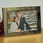 Personalised Snowflake 7x5 Photo Frame Mum Mother of the Bride / Groom Gift L/S