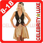 New Ladies Black 1920s 20s Gatsby Girl Flapper Burlesque Fancy Dress Up Costume