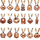 Fashion Women's Vintage Retro Bohemian Wood Pendant Long Necklaces Sweater Chain