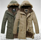 Hot New Mens Winter Warm Thicken Overcoat Fur Hooded Jacket Parka Outwear