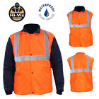 Mens Hi Vis Waterproof Waistcoat Workwear Safety Visibility Rain Jacket Vest Viz