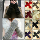 Knitting Crochet Braided Wrist Hand Arm Warmer Mitten Fingerless Gloves 8 Color