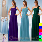 One-Shoulder Bridesmaid Dresses Evening Dress Formal Party Prom Gowns Size 6-26