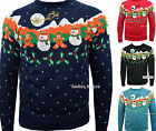 NEW MENS WOMENS CHRISTMAS JUMPER NOVELTY KNITTED XMAS SWEATER SIZE S M L XL XXL