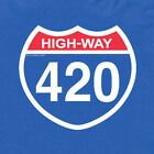 420 HIGHway weed blunt hash kief oil pot colorado marijuana dispensary T SHIRT