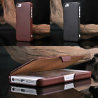 100% Real Genuine Flip Leather Case Cover Skin For Apple iPhone 5 5G 5S