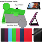 Premium Leather Case Cover for Verizon Ellipsis 8 4G LTE Tablet w/ Stylus Holder