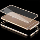"New Luxury Aluminum Bumper Clear Back Case Cover for iPhone 6 4.7"" 6+ Plus 5.5"""