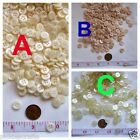 """Buttons 3/8""""  Off White Beige Clear Yellow Tint"""