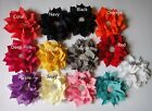 Lots 30pcs Chiffon Rhinestone sewing corsage Hair Hat Flowers 13color pick 8CM