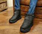 Mens Ankle Boots Waterproof Snow Boots Thicken Fur Lining Footwear ботинки