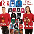 CLEARANCE SALE Mens Womens Reindeer Santa 3D Teddy Bear Olaf Christmas Jumper
