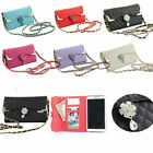 Bling Wristlet handbag Leather Wallet Flip Phone Cover Case For Samsung Galaxy