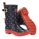 New Joules Molly Welly Navy Spot Ladies Mid Wellington Boots - UK 3-8 Free p&p