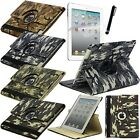 Camouflage Military Color 360 Rotating Smart Stand Leather Case iPad Mini 1 2