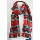NEW Women's, Mens, Unisex Red Tartan Casual/ Evening Thick Winter Scarf