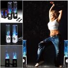 LED Dancing Water Speaker Fountain Light USB Speakers iPad iPhone Laptop Black